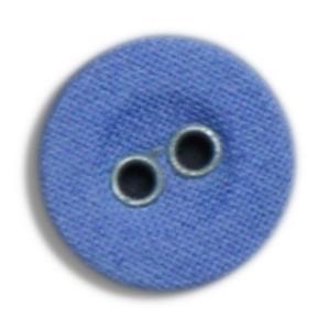 Lærredsknap-blå