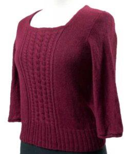 Rød-bluse