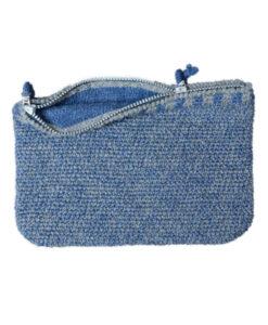 Strikke clutz blå grå - WEB