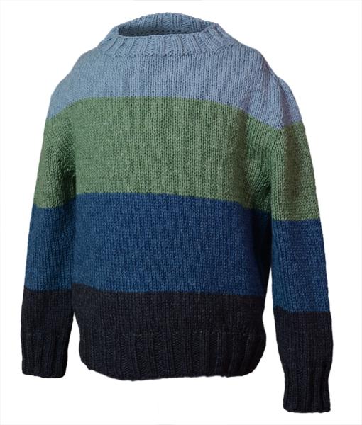 Top Down sweater børn Lillestrikgarn