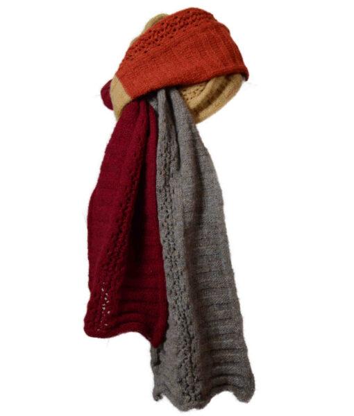 spor uld rød, kaki karry WEB